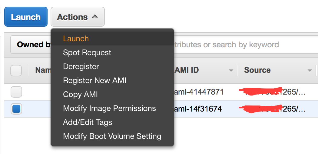 launch new instance from ami