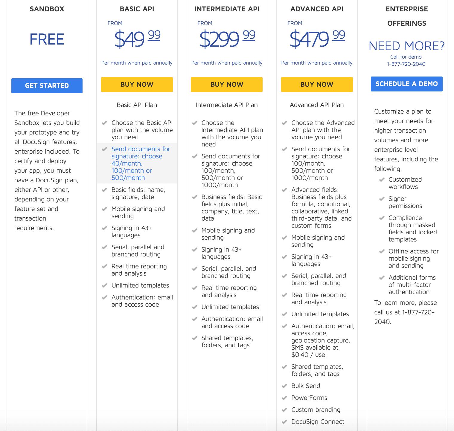 API Plan